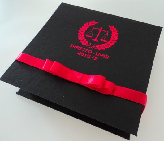Convites de Formatura Direito preto e vermelho