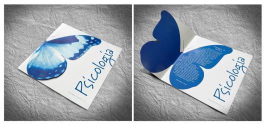 Convites de Formatura Psicologia borboleta azul