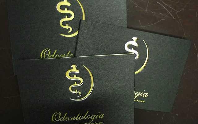Convites de Formatura Odontologia de luxo preto e dourado