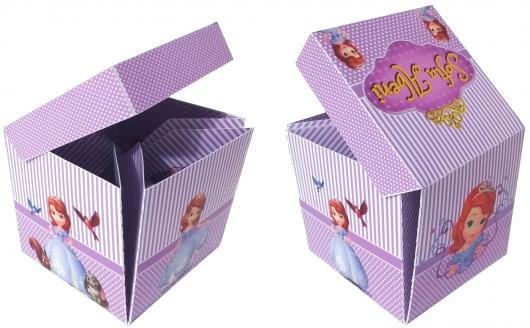 Convites Princesa Sofia caixa de papel