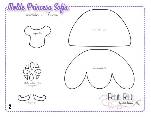 Convites Princesa Sofia molde para convite