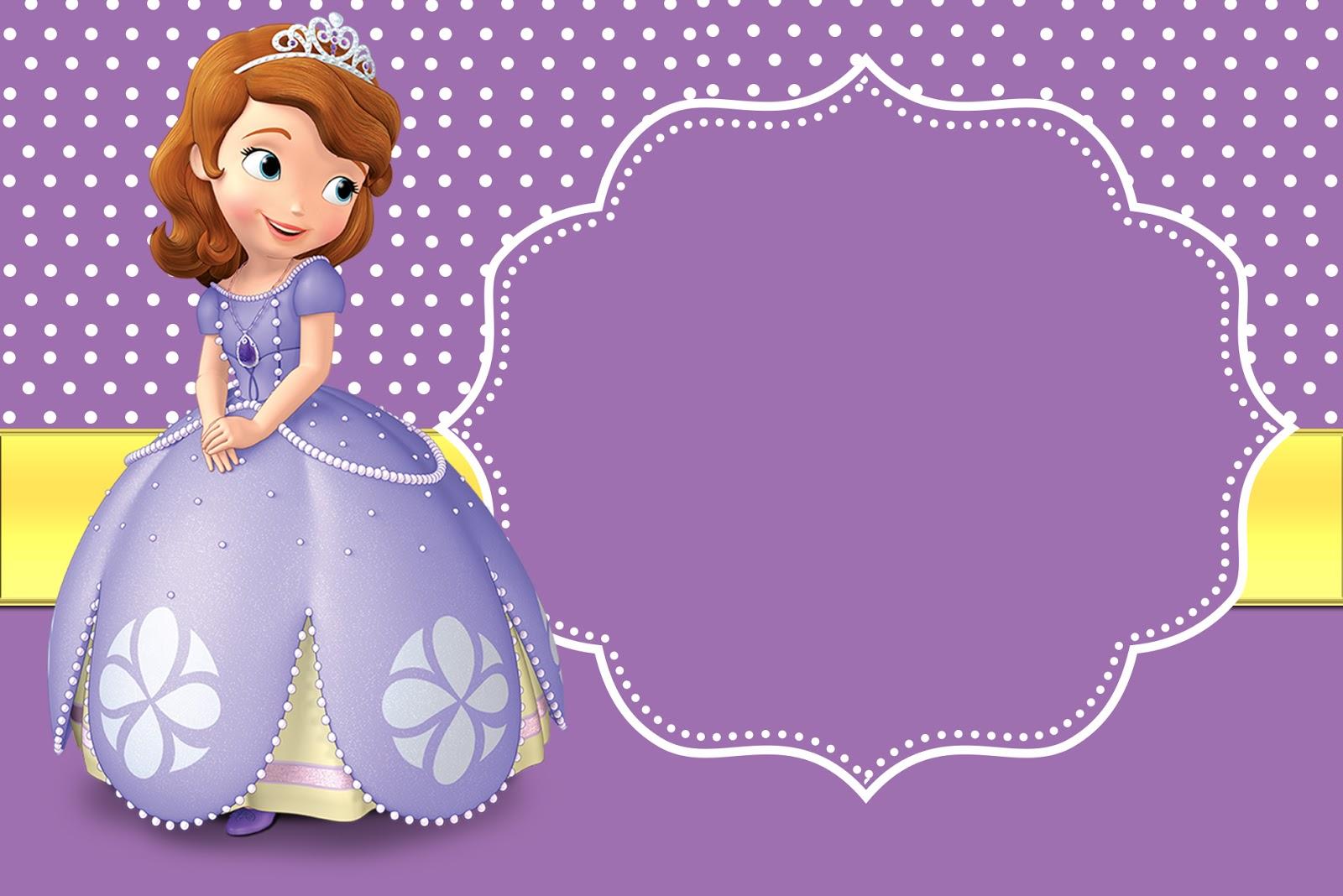45 Convites Princesa Sofia Lindissimos Imprima Faca O Seu