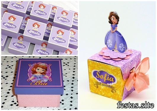 Convites Princesa Sofia modelos de caixa