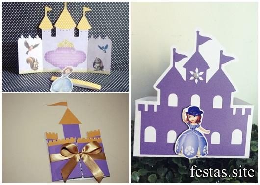 Convites Princesa Sofia castelo