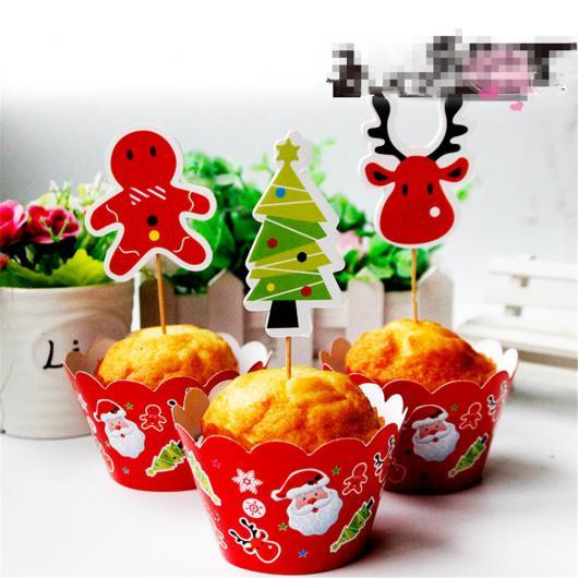 Cupcake de Natal com forminha de papai noel