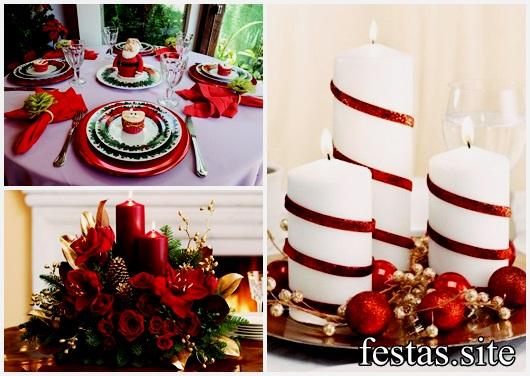 45 Ideias de Decoraç u00e3o de Natal Simples e Barata para Fazer em Casa! -> Decoração Ceia De Natal Simples