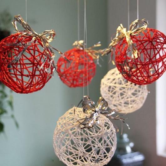 45 Ideias de Decoraç u00e3o de Natal Simples e Barata para Fazer em Casa! -> Decoração De Natal Simples E Barata Para Mesa