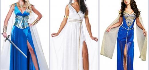 Fantasia Grega femina longa modelos