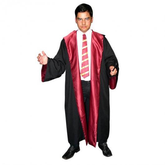 Fantasia Harry Potter masculina capa preta e vermelha