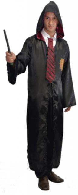 Fantasia Harry Potter masculina capa e varinha