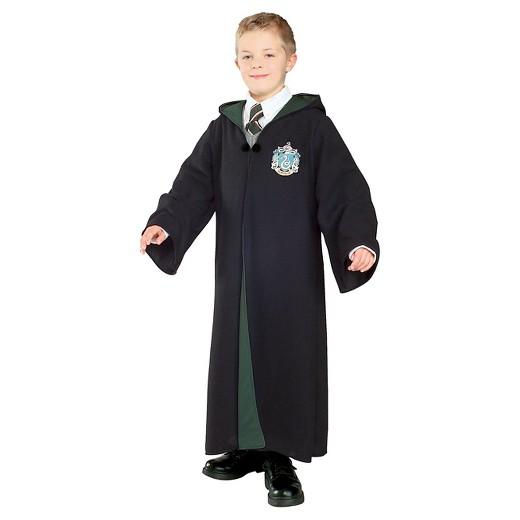 Fantasia Harry Potter infantil capa preta e verde