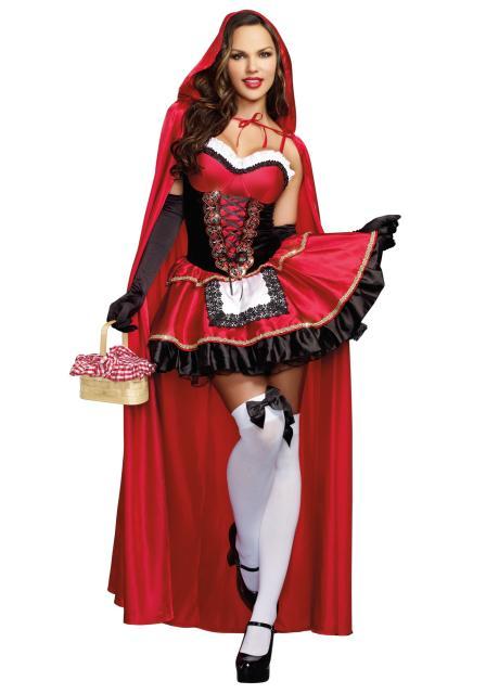 Fantasias Femininas de luxo Chapéuzinho Vermelho