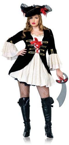 Fantasias Femininas pirata branca e preta