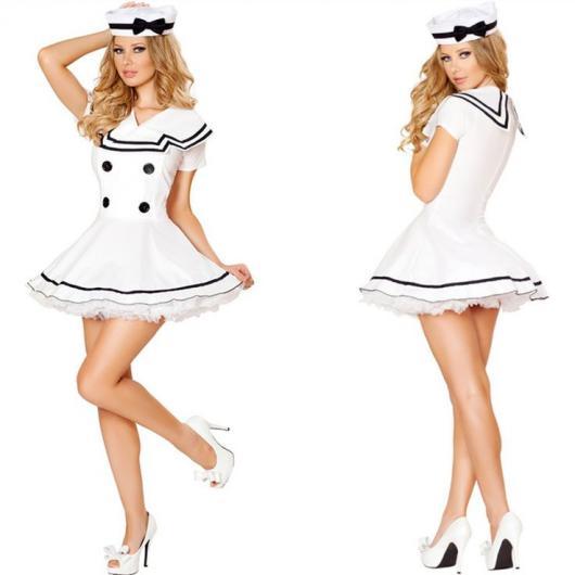 Fantasias Femininas marinheira branca
