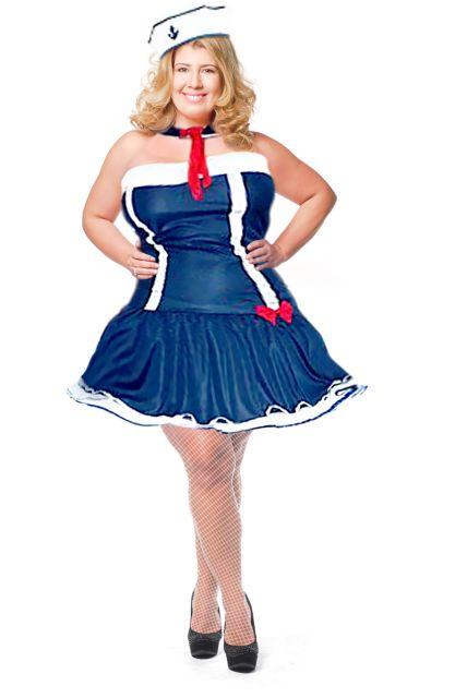 Fantasias Femininas azul e vermelha de marinheira