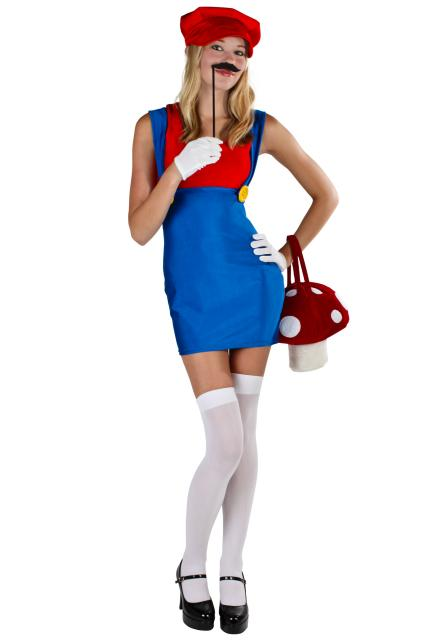 Fantasias Femininas Super Mario vestido tubinho