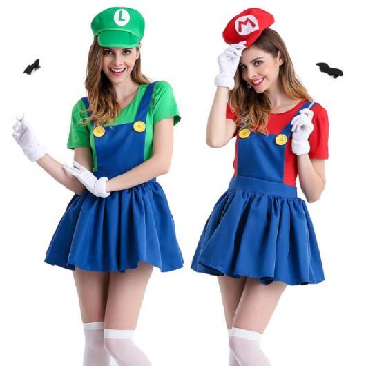 Fantasias Femininas Mario Bros e Luigi