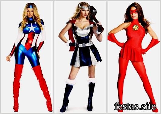 Fantasias Femininas modelos de herói