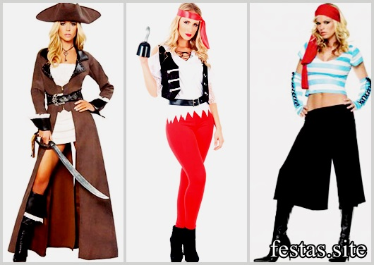 Fantasias Femininas modelos de pirata