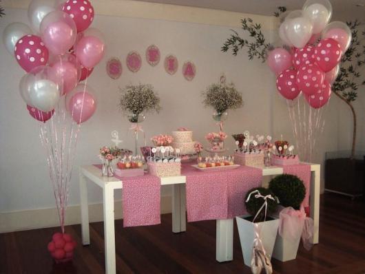 Festa Bailarina simples com balões