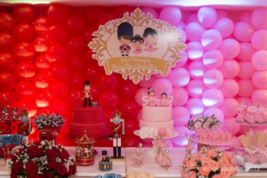 Festa Bailarina e Soldadinho de Chumbo com decoração de balões
