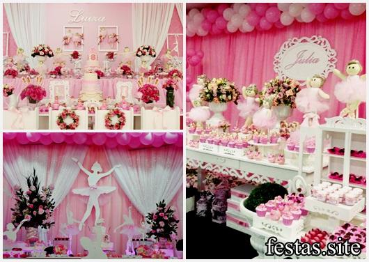 Festa Bailarina decorações de luxo