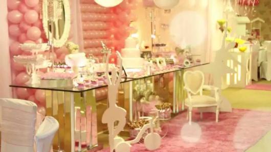 Festa Bailarina rosa de luxo