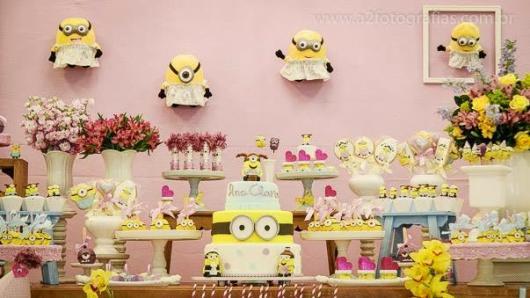 Festa dos Minions rosa