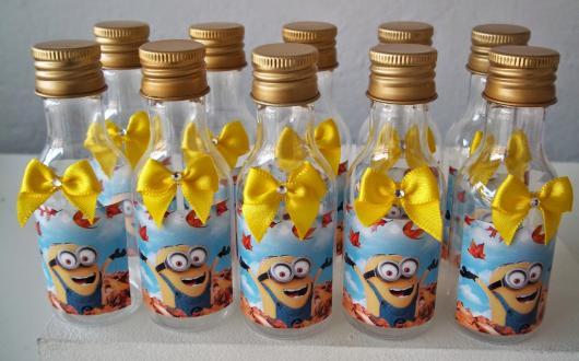 Festa dos Minions garrafinha personalizada