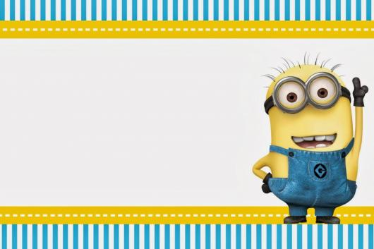 Festa dos Minions convite cartão
