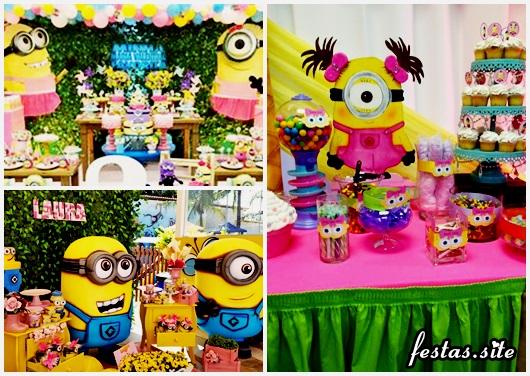 Festa dos Minions rosa modelos