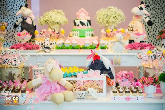 Festa Fazendinha baby rosa