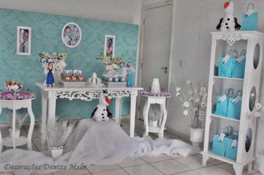Festa Frozen enfeite criatico com tecido