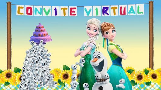 Festa Frozen convite frozen fever virtual