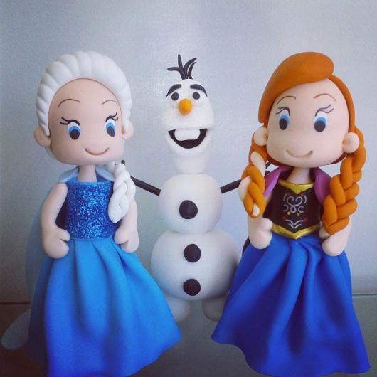 Festa Frozen lembrancinha de biscuit