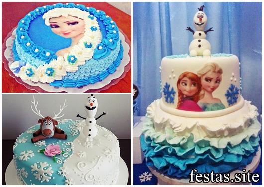 Festa Frozen modelos de bolos decorados