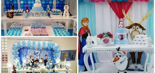 Festa Frozen modelos de decoração provençal