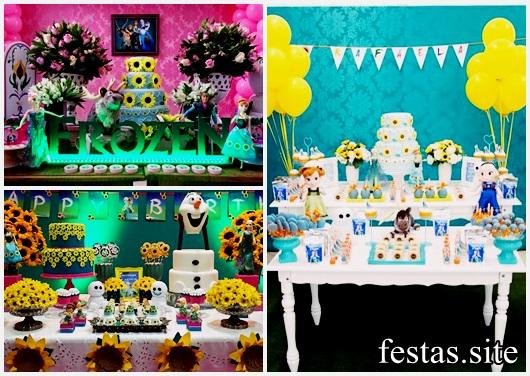 Festa Frozen Fever modelos de decoração