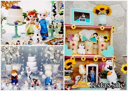 Festa Frozen baby modelos de decoração