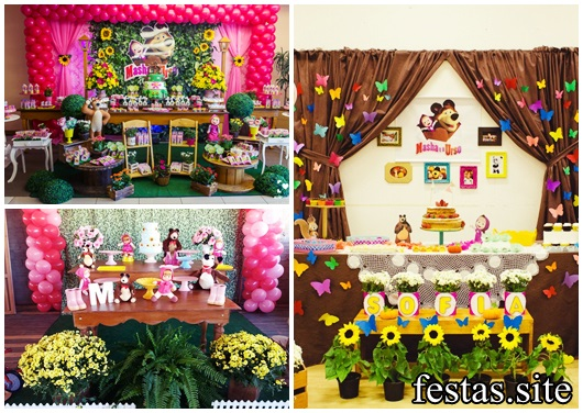 Festa Masha E O Urso 50 Fotos De Decoração Para Se Encantar