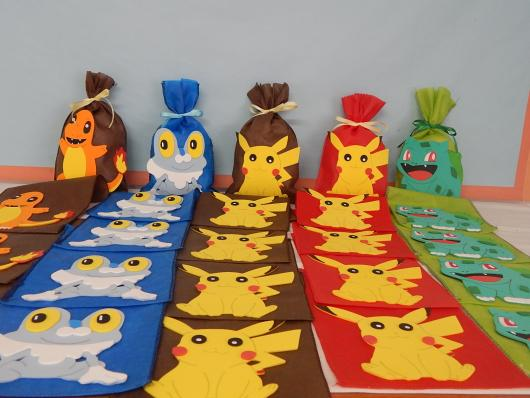 lembrancinha festa Pokémon sacola personalizada