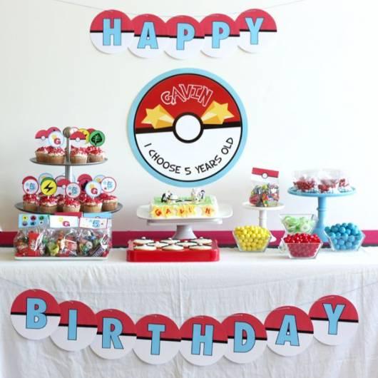 festa Pokémon simples