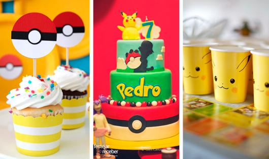 festa Pokémon dicas de bolos