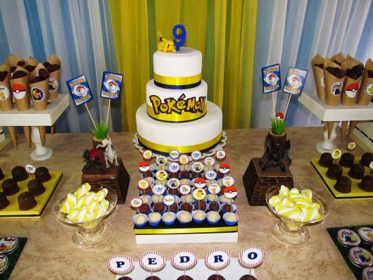 festa Pokémon dica de bolo