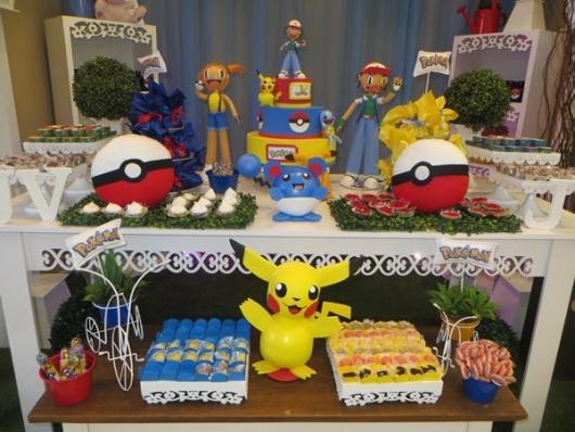 festa Pokémon decoração provençal