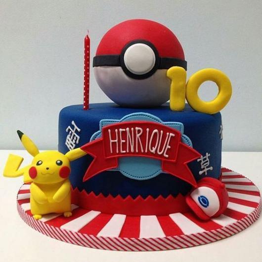 festa Pokémon bolo pokebola