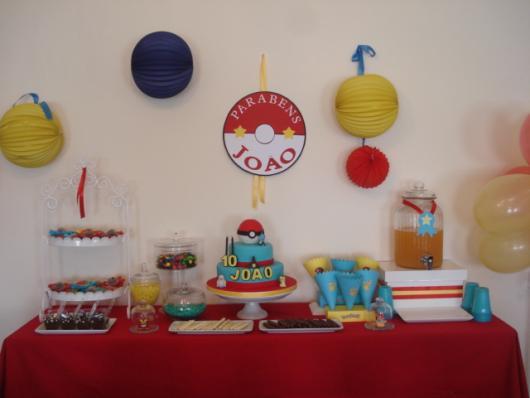 festa Pokémon aniversário simples