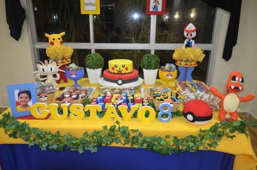 festa Pokémon divertida em casa