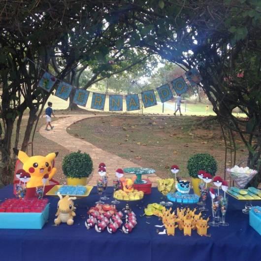 festa Pokémon decoração picnic