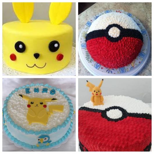 dicas de bolos para festa Pokémon